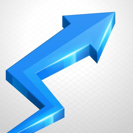 3d arrow graph growth up background