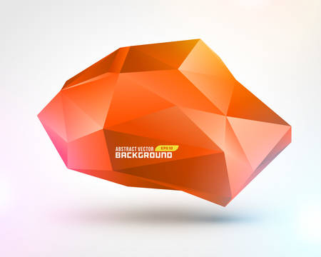 Abstract geometric 3d shape background  Illustration
