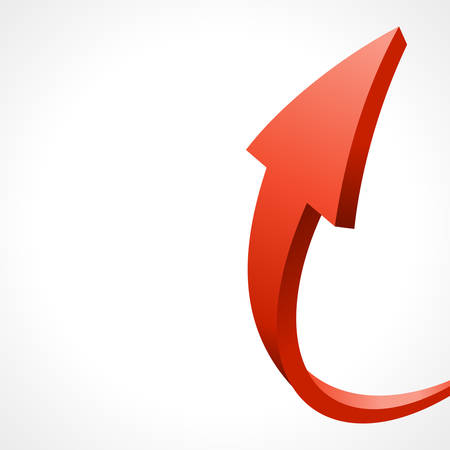 3d red arrow abstract business background