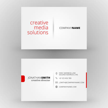 business card layout: Creative business card vector design print template Illustration
