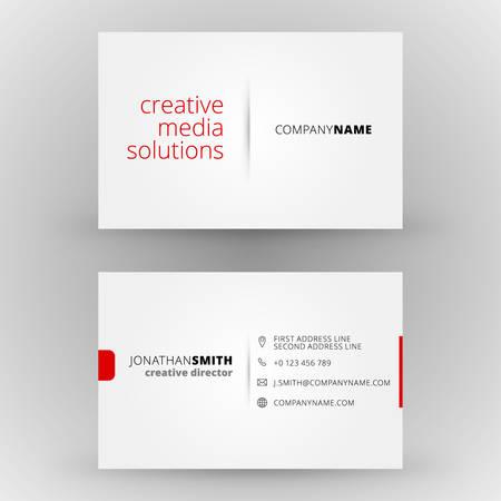 negocio: Tarjeta de visita creativa plantilla de vector de diseño de impresión