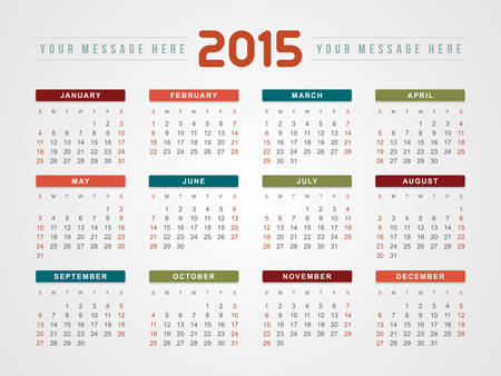 Calendar 2015 Vector Design Template Royalty Free Cliparts Vectors