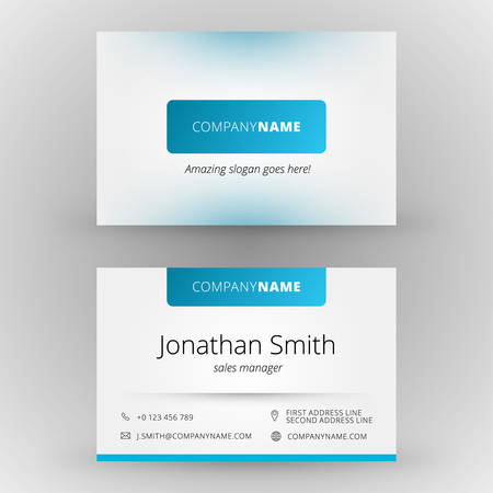network card: Creative business card vector design print template Illustration