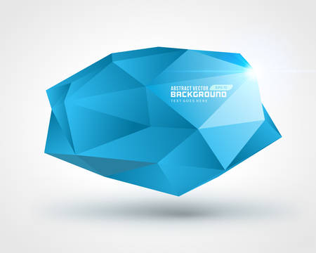 Abstract geometric 3d shape color vector background