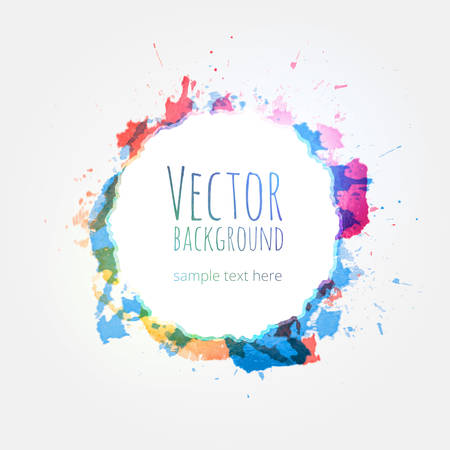 Watercolor colorful background vector design hand drawn Vector