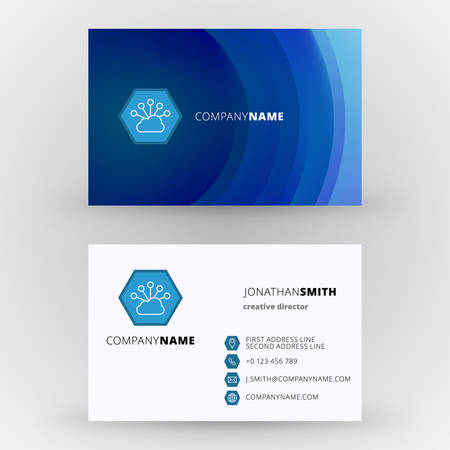 Creative business card vector design print template Illustration