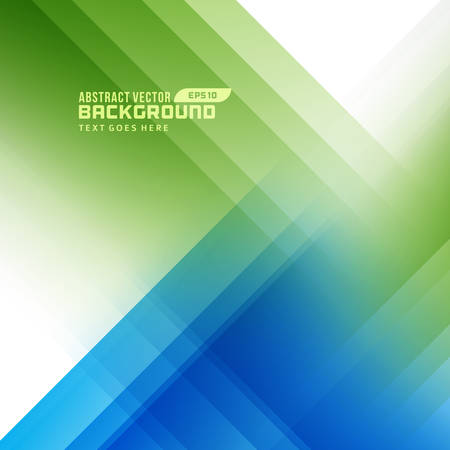 background green: Smooth light lines abstract