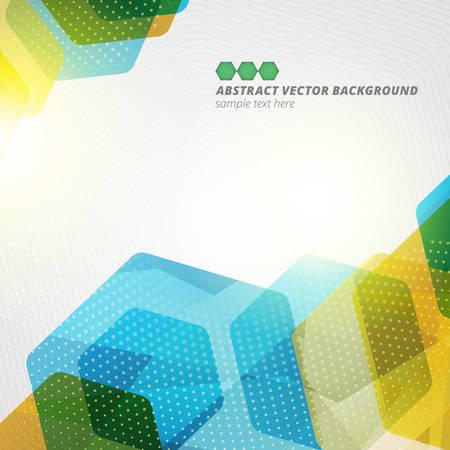 absztrakt: Absztrakt hatszög geometriai színes vektor háttér eps10