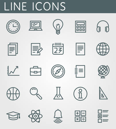 study: Vector icons set. For web site design and mobile apps.