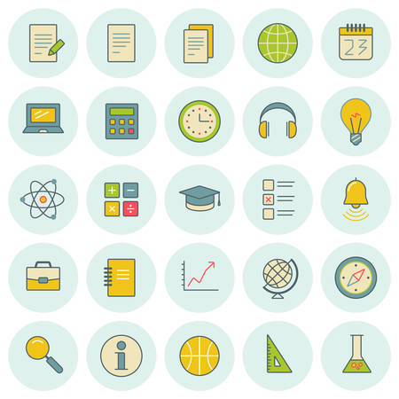 case studies: Vector icons set. For web site design and mobile apps.