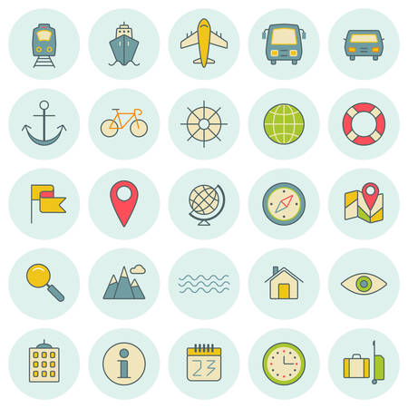 recreation rooms: Vector icons set. For web site design and mobile apps.