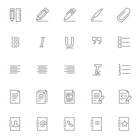 mobile apps: Vector icons set. For web site design and mobile apps.