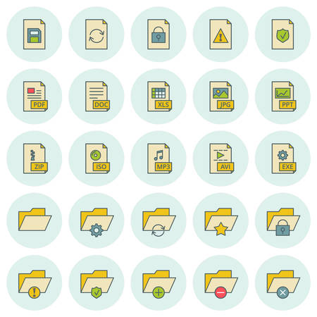 Vector icons set. For web site design and mobile apps.  Vector