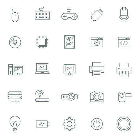 web site: Vector icons set. For web site design and mobile apps.