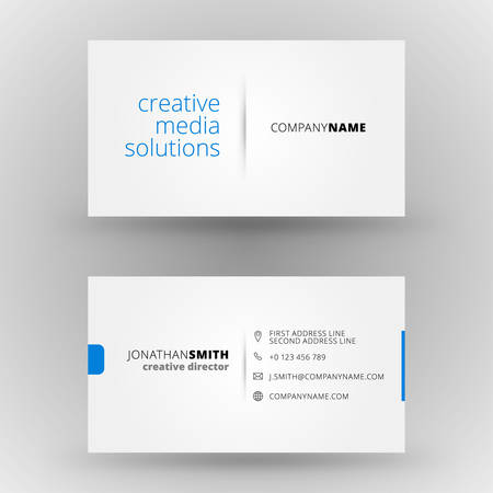Creative business card vector design print template Ilustracja
