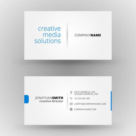 Creative business card vector design print template Vettoriali