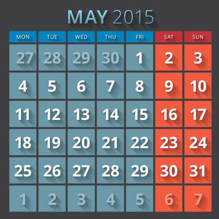 week planner: Calendar planner 2015 template week starts monday Illustration