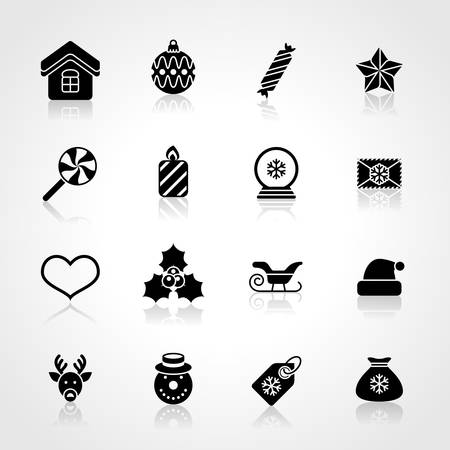 Flat christmas icons for web and applications