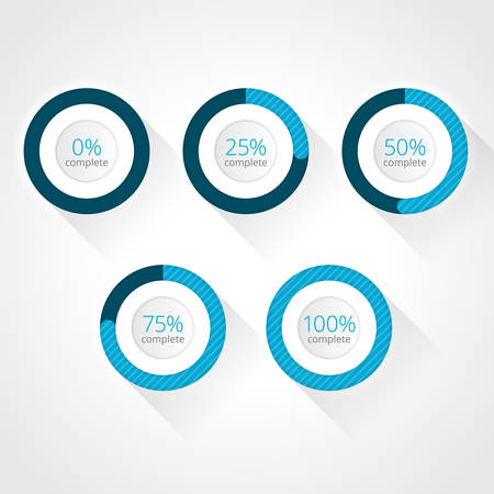 progress bars for website and applications.  Vector