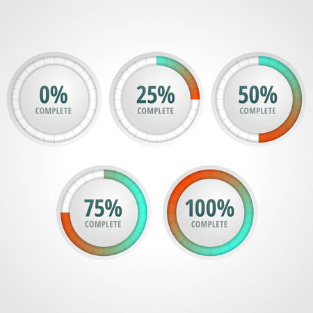 progress bars for website and applications. Infographic elements