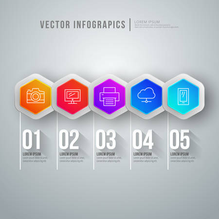 abstract infographic design Workflow layout template