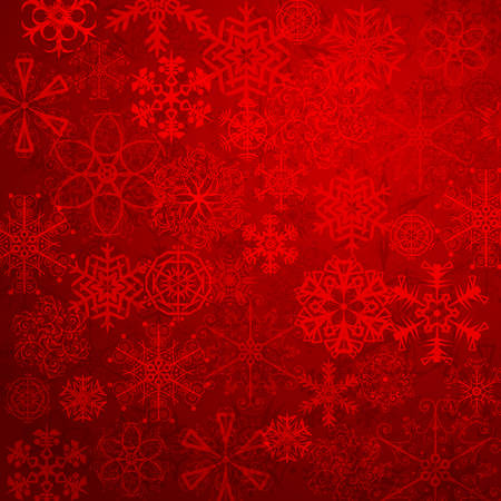 cool background: Christmas background with snowflakes and lights.