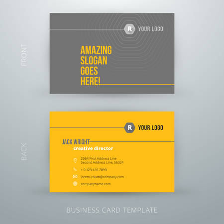 business cards: Modern simple business card template. Vector illustration