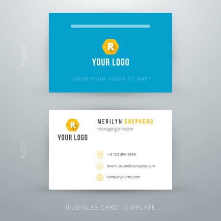 business: Moderna semplice modello di biglietto da visita. Illustrazione vettoriale