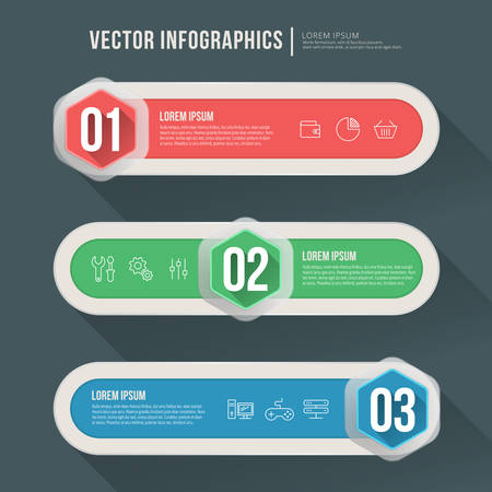 Vector abstract infographic flat design. Workflow layout template Vector
