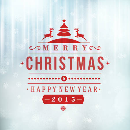 christmas christmas christmas: Merry Christmas message and light background with snowflakes. Vector illustration Eps 10.