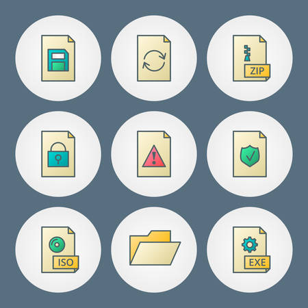 Vector icons set. For web site design and mobile apps Vector