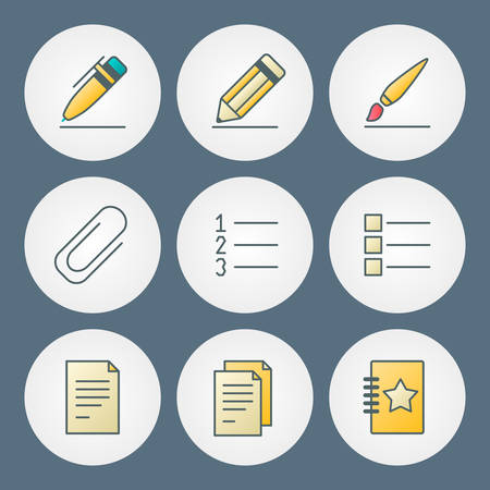 numbering: Vector icons set. For web site design and mobile apps