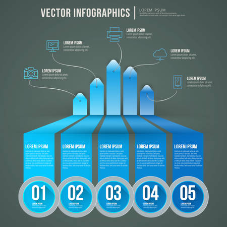 abstract infographic flat design. Workflow layout template Vector