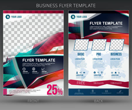 product background: Abstract vector business flyer brochure template. EPS10 Illustration