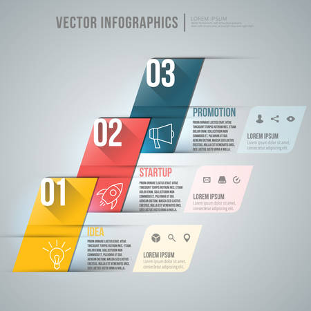 abstract infographic design. Workflow layout template