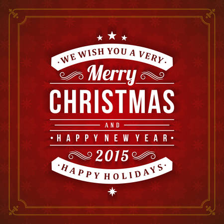 word art: Christmas postcard ornament decoration background. Vector illustration EPS10