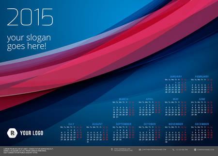 Calendar 2015 vector template week starts monday Vector