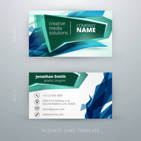 business card template: abstract creative business card template.