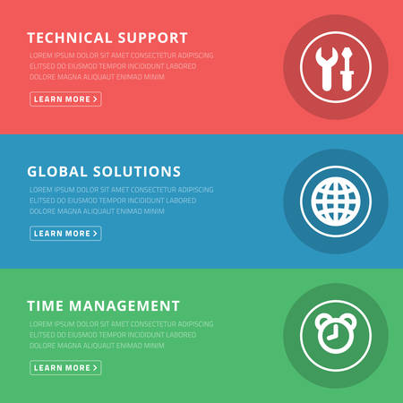 Flat design concept for technical support and management Vector