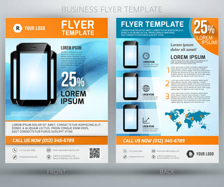 Abstract vector business flyer brochure template. EPS10 Illustration