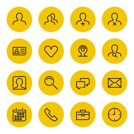 fila de personas: Iconos de l�nea delgada para web y m�vil
