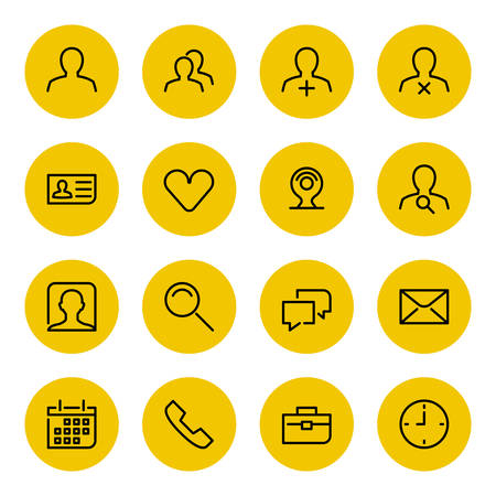 abstract line: Thin line icons set for web and mobile