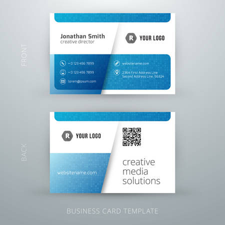 Vector abstract creative business card template.