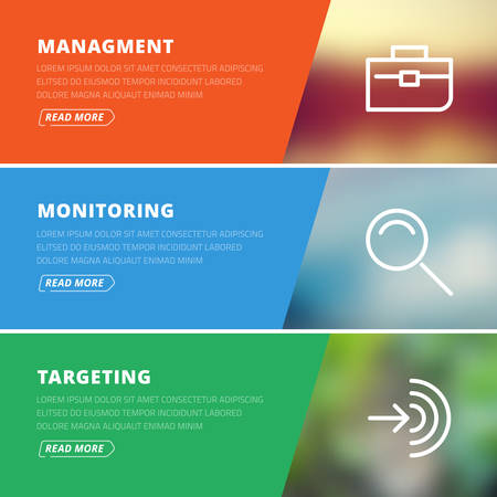 targeting: Flat design concept for management, monitoring, targeting