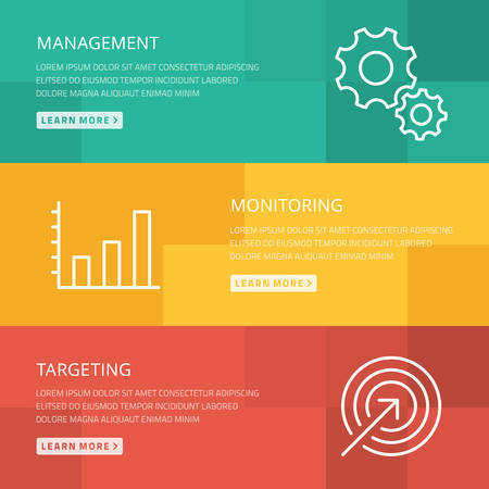 Flat design concept for management, monitoring, targeting Vector