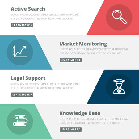 search marketing: Flat design concept for search, marketing, support, knowledge base Illustration