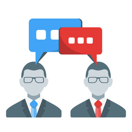communication concept: Business people communication concept. Vector illustration in flat design style