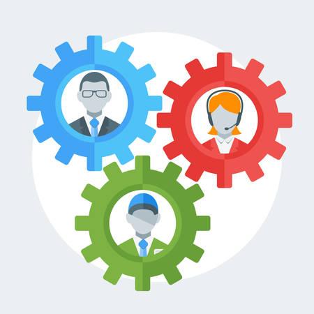 resource management: Human resource management concept. Vector illustration in flat design style Illustration
