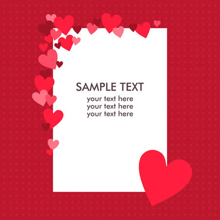 papaer: White paper sheet with text on the red background Illustration