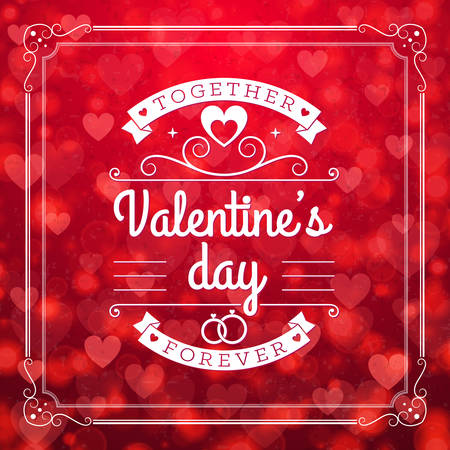 st valentines day: St. Valentines Day abstract vector background with Illustration